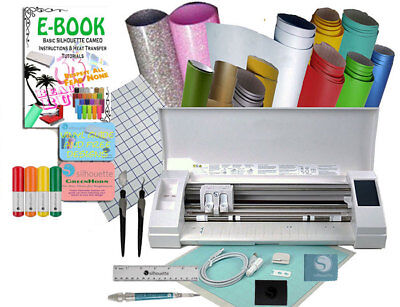 Silhouette Cameo 3 Oracal Vinyl Sheets Tools Pens Tutorials Siser Glitter HTV