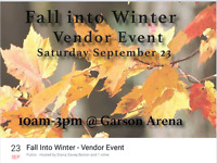 Fall Into Winter Vendor  Event- all tables and taken