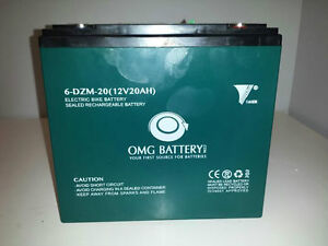 EBIKE BATTERIES 12V 20 A/H HIGH OUTPUT FOR EBIKES