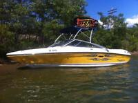 REDUCED 2008 205 SeaRay 5L Sport openbow, Tower, stainless prop