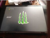 ACER CROMEBOOK EXCELLENT CONDITION, NEEDS NEW BATTERY,CHARGER SUPPLIE