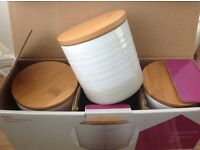 3 piece storage set/ kitchen canisters