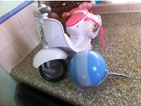 baby born scooter and helmet