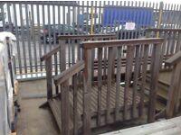 Wooden caravan steps x2