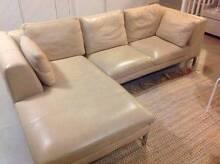 Modern 3 piece modular leather lounge in great condition. Kiama Downs Kiama Area Preview