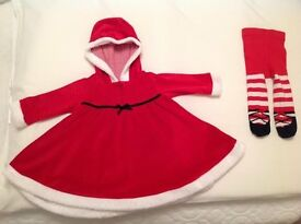 Baby girl's Next santa outfit 3-6 months