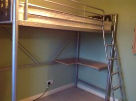 METAL FRAME HIGH BED