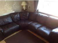 7 seater chocolate brown corner couch smoke free and pet free clean home