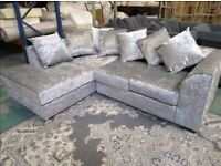 BRAND NEW COUCHES CRUSHED VELVET CORNER SOFA AND 3+2 SEATER SOFA AVAILABLE IN STOCK ORDER NOW