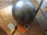 Reebok Workout gym ball - with DVD and pump