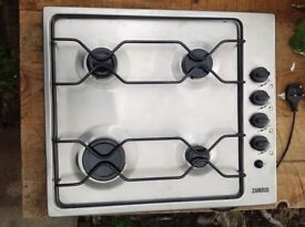 Zanussi Stainless Steel Gas hob. Very good condition