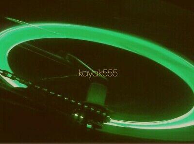SET 4 NEON LED VALVE STEM CAR RIMS TIRE LIGHTS FOR AUDI VOLVO SUBARU LEXUS - Led Lights For Shirts