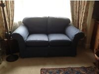 Laura Ashley 2 Seater Sofa in Blue - Excellent Condition