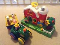 Old MacDonald Farmhouse and Tractor