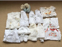 Variety of Baby Clothes - Newborn - 6mths . From a pet & Smoke free home.