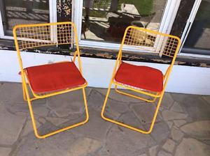 Yellow/Orange chairs