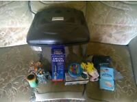 FISH BOX fish tank with all accessories, including pump, tropical heater, gravel and ornaments.