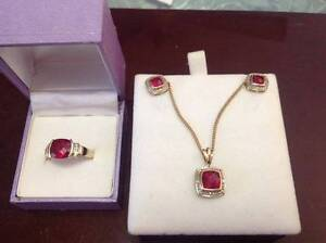 9ct Gold Ruby and Diamond Set Morpeth Maitland Area Preview