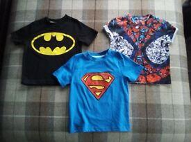 Superhero T-Shirts Age 2-3