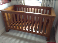MAMAS & PAPAS OCEAN COT BED, CHANGING TABLE / DRESSER & MATTRESS - SOLID OAK. CHESHIRE / SOUTH MCR