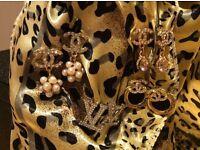 Lovely Chanel & Louis Vuitton style earrings