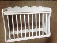Plate rack, white