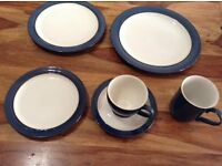 Denby Imperial Blue dinnerware collection