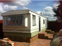 two bedroom mobile home to rent £140 per week available now