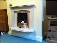solid fireplace