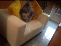 2 x2 seater leather sofas