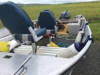 Sea strike 16ft aluminium boat depth sounder,fish finder,2 tanks, Yamaha, all the kit