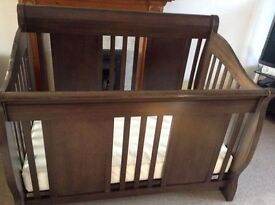 BARGAIN Cara Mia Cot, converts into toddler bed and double bed. with mattress and extension kit.