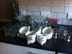 cups and glasses job lot