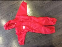 Muddy Puddles unisex all-in-one waterproof suit - size 12 - 18months