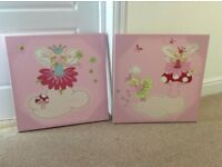 Next Fairy Canvas Pictures 54cm by 54cm - perfect condition