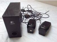 Logitech speakers & subwoofer