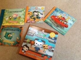 5 Octonauts books in excellent condition