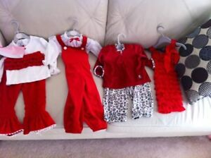 Size 18-24 and 2T Christmas outfits