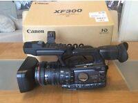 Professional Broadcast Camera Canon XF 300. As New.