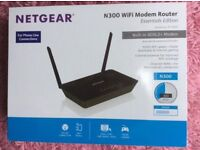 Netgear N300 WiFi Modem Router (as new)