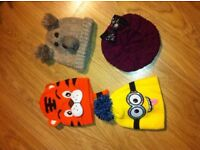 4 Kids Winter Hats -- Used good condition