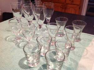 As new quality liqueur and shot glasses 16 total Belrose Warringah Area Preview