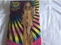 Girls Peace & Love Hippy Costume age 12-14