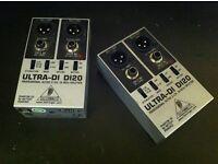 Behringer DI20 DI Boxes (x2)