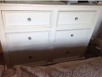 Solid very large chest of drawers