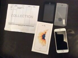 iPhone 6s 16gb gold mint boxed 5 moths old unlocked