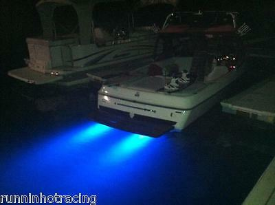 COOL Dual Display Blue LED TRIM TAB Light Bars Transom Boat Yacht Ski Drain Plug
