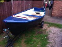 12ft Rowing Boat with Trailer