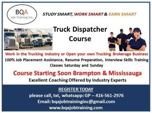 DISPATCHER COURSE CLASSES - JOIN ANY WK DAY OR WKEND IN BRAMPTON