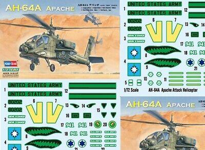 Hobby Boss *HobbyBoss* 1/72 AH-64A Apache Attack Helicopter  #87218